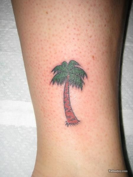 50 best images about tattoos on pinterest ancient for Palm tree ankle tattoo