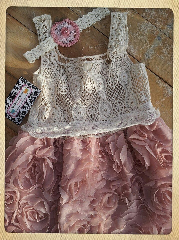The sweetest lace dress just perfect for your little fancy Nancy!Available in Blush or Tiffany Blue*Headband not included*