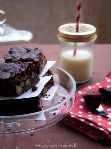 Brownie aux noix (sans lactose, sans gluten et sans oeufs – vegan)