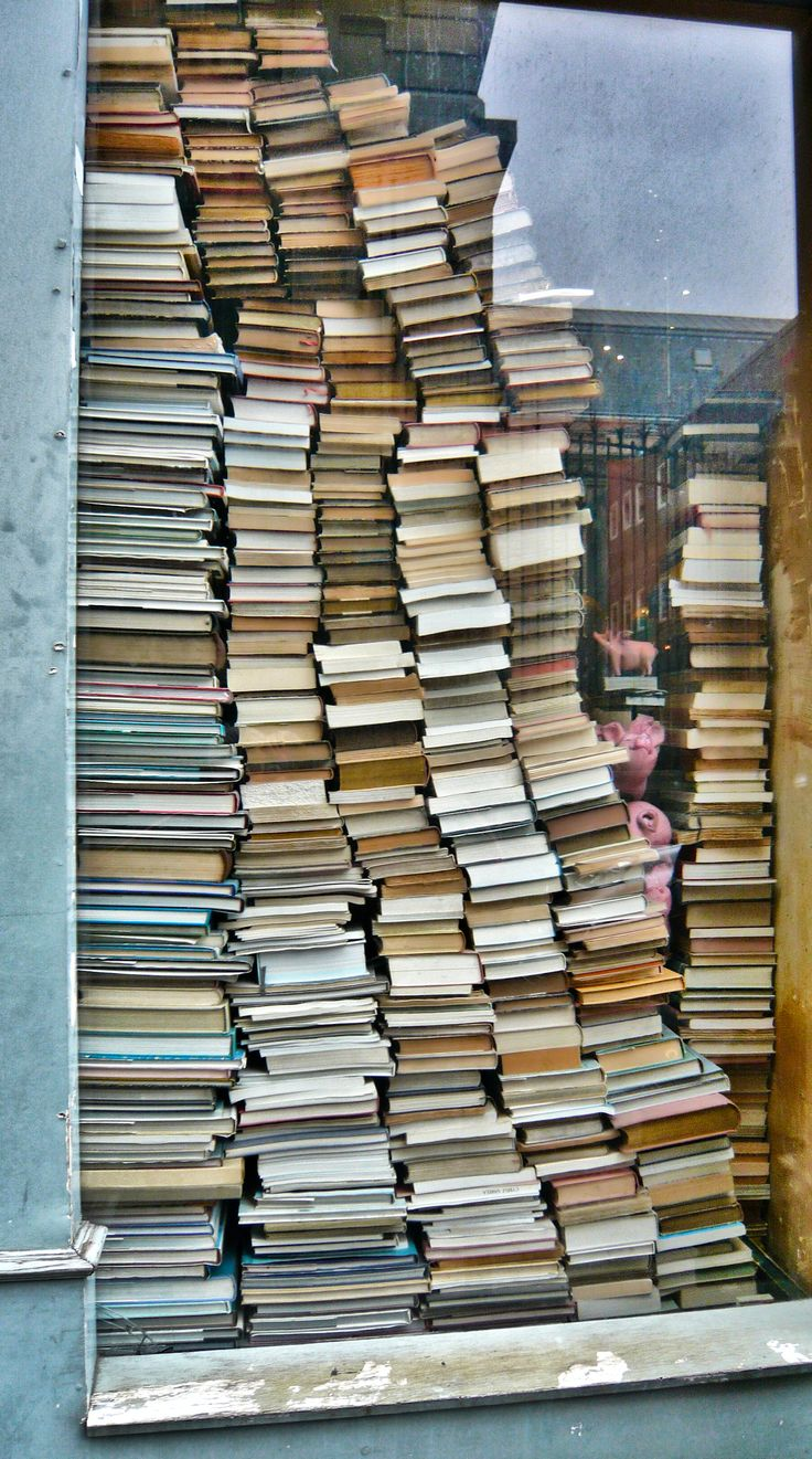 Pick a book, any book but if you look too long you might start seeing flying pink pigs. Galerie Vivienne, Paris.