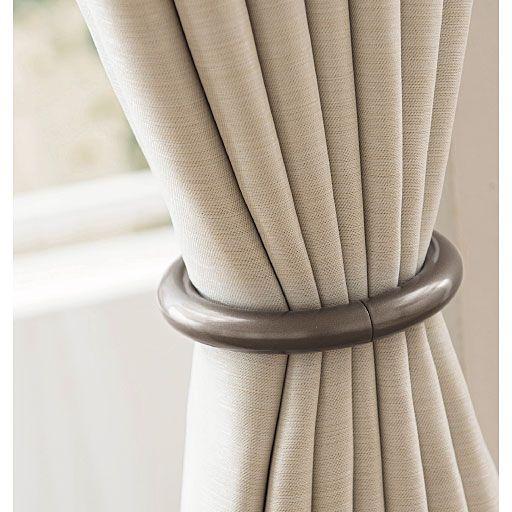 人気!工具不要のマグネットタッセル - カーテン通販blog 黒に近く、光にあたると光沢感がおしゃれな『ブロンズ』 モダンな色合いでダークカラーのカーテンとの相性◎