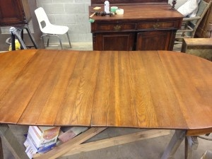 Oak Dining Room Table Refinished