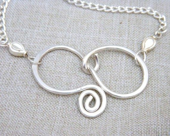 Silver Pendant Handmade Wire Wrapped Sterling
