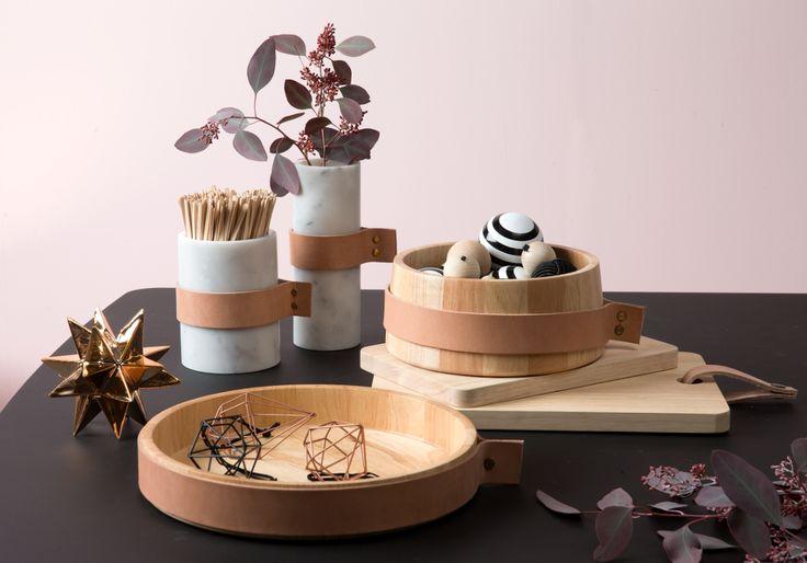 EMIKO marmor vaser, ATLA skål og fad & PERNILLA skærebrætter