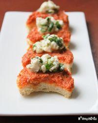 Canapés de tomates secos y queso de cabra marinado | L'Exquisit