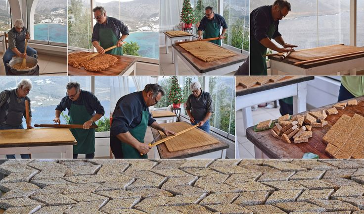 Wedding preparation at Aegialis hotel today: making the traditional sweet of Amorgos, the Greek Pasteli ! The unique honey and sesame combination can surely open you appetite !