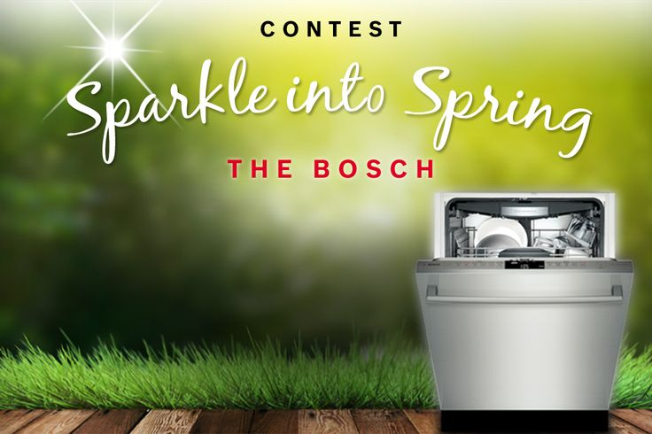 I just entered to win a Bosch dishwasher!
