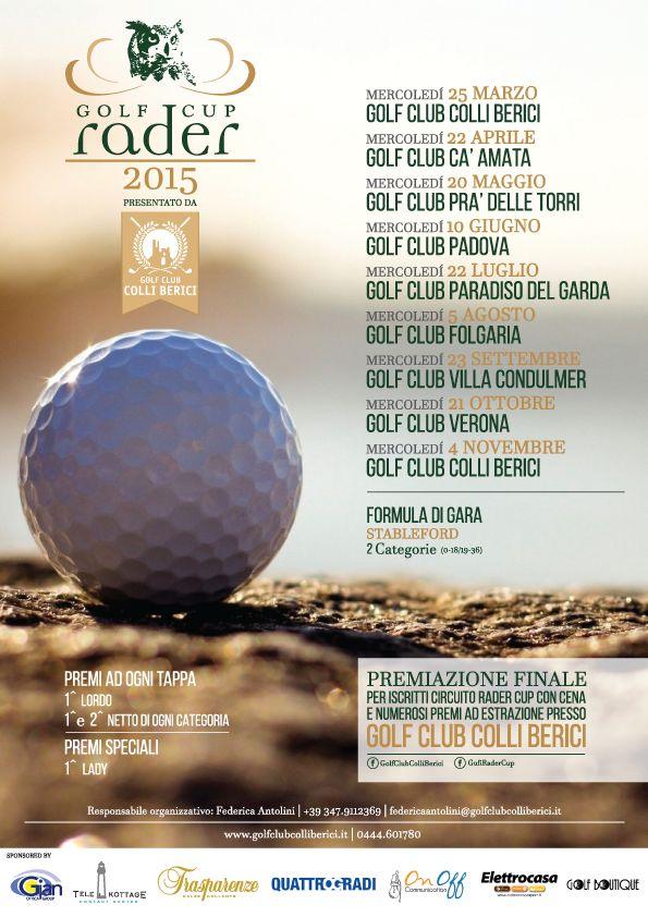 OnOff Communication sponsor del torneo di #golf Rader Cup 2015 by Golf Club Colli Berici