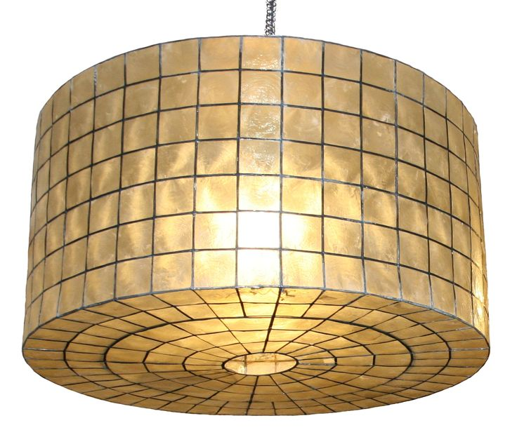 Drum Shape Capiz Shell Pendant Available In 28x28x14 5HLarge And