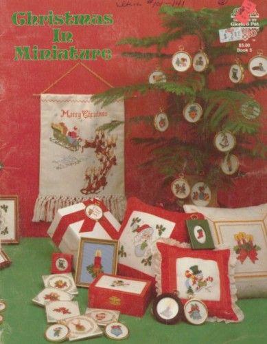 Christmas In Miniature Cross Stitch Book
