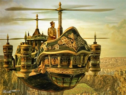 Steampunk Ship. Love it!