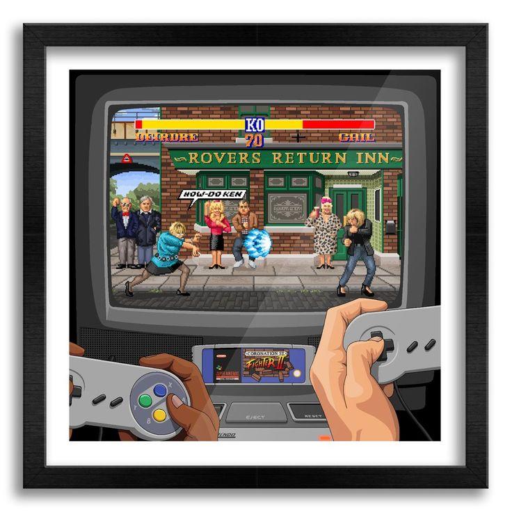 Coronation Street Fighter II Art Print