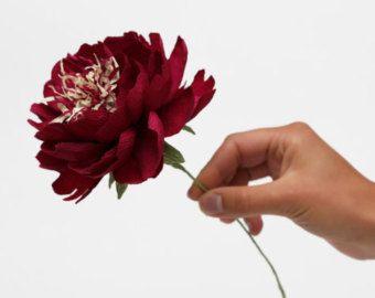 paper flowers paper wedding bouquet wedding by FlowerDecoration