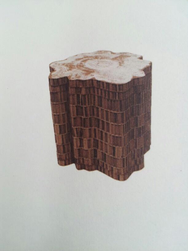 Met marker getekende hout structuur
