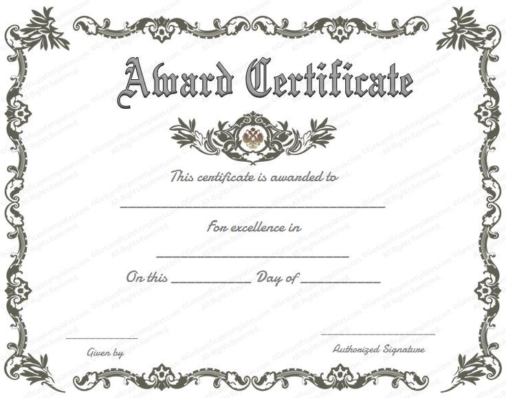 Best 25 certificate of recognition template ideas on pinterest what is great about our royal award certificate template is that you can produce some very high quality and top of the line award certificates to have for a yadclub Choice Image