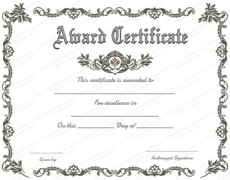 Best 25+ Certificate of achievement template ideas on