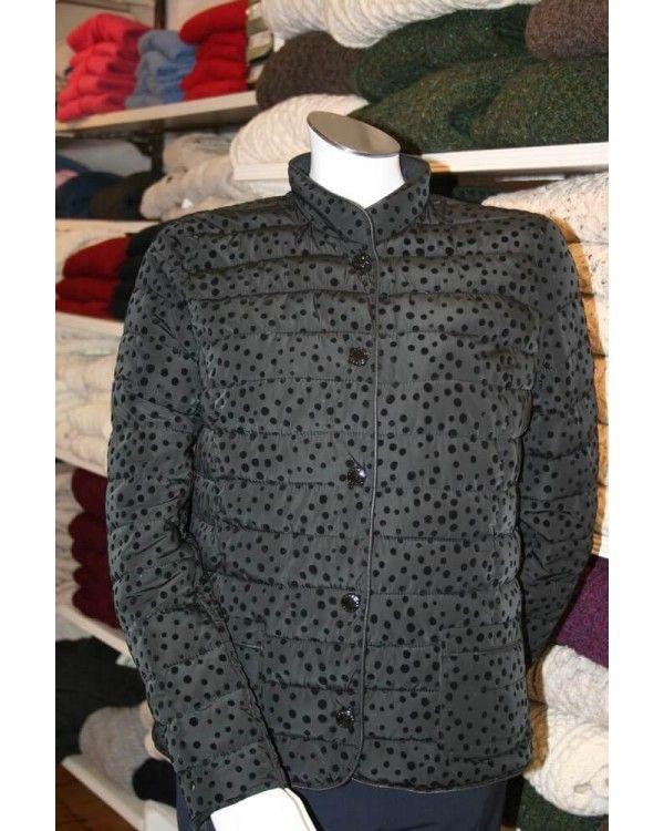 Lebek Reversible Black Spotted Quilt Jacket