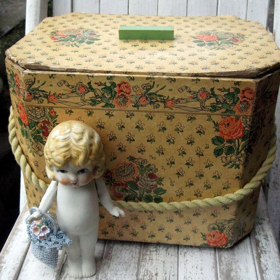 Antique vintage sewing box