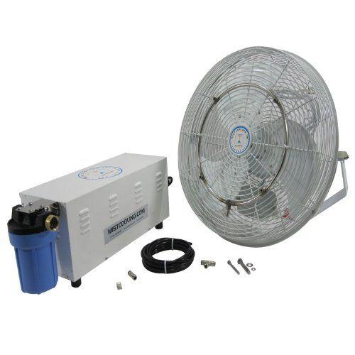 misting fans 14 misting fan kit high pressure visit the image link - Outdoor Misting Fan