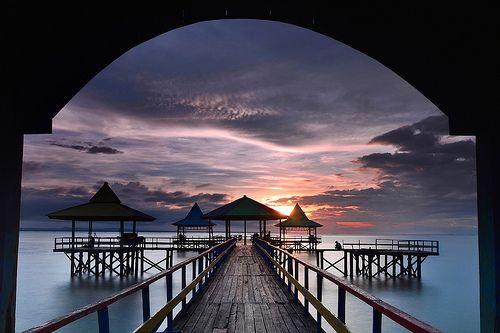 Sunrise at Kenjeran Surabaya