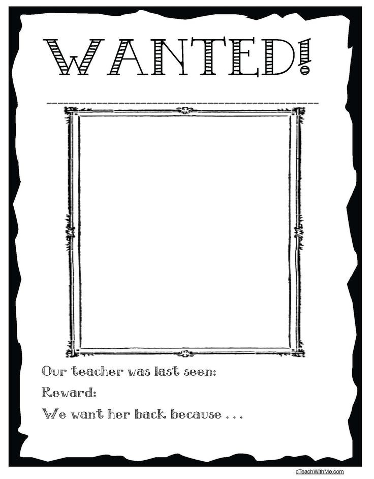 31 best Miss Nelson is missing images on Pinterest Teaching - missing reward poster template