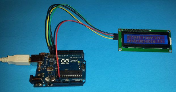 How to connect a serial lcd an arduino uno