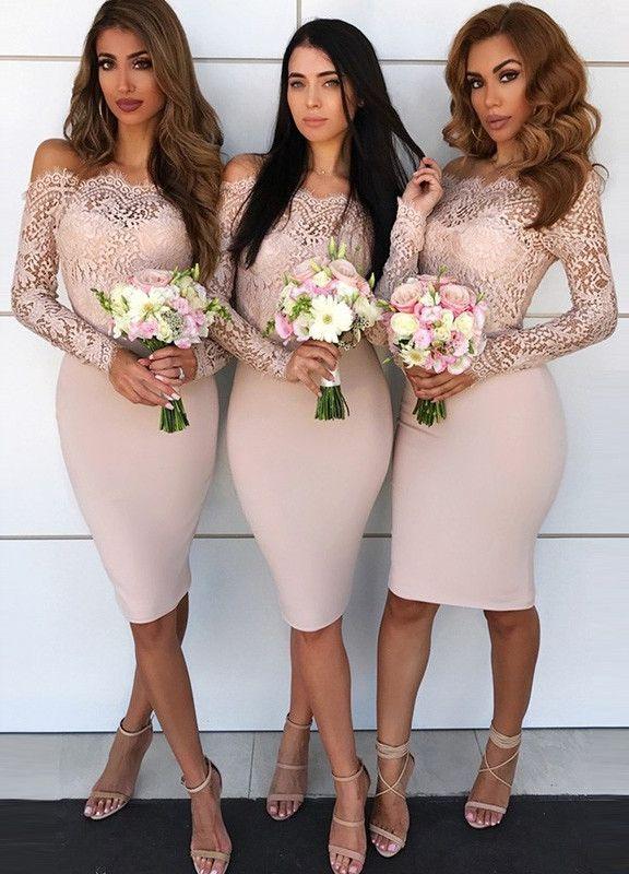 Women Floral Lace Bridesmaid Party Dress Short Prom Dress V Neck Pink-XL