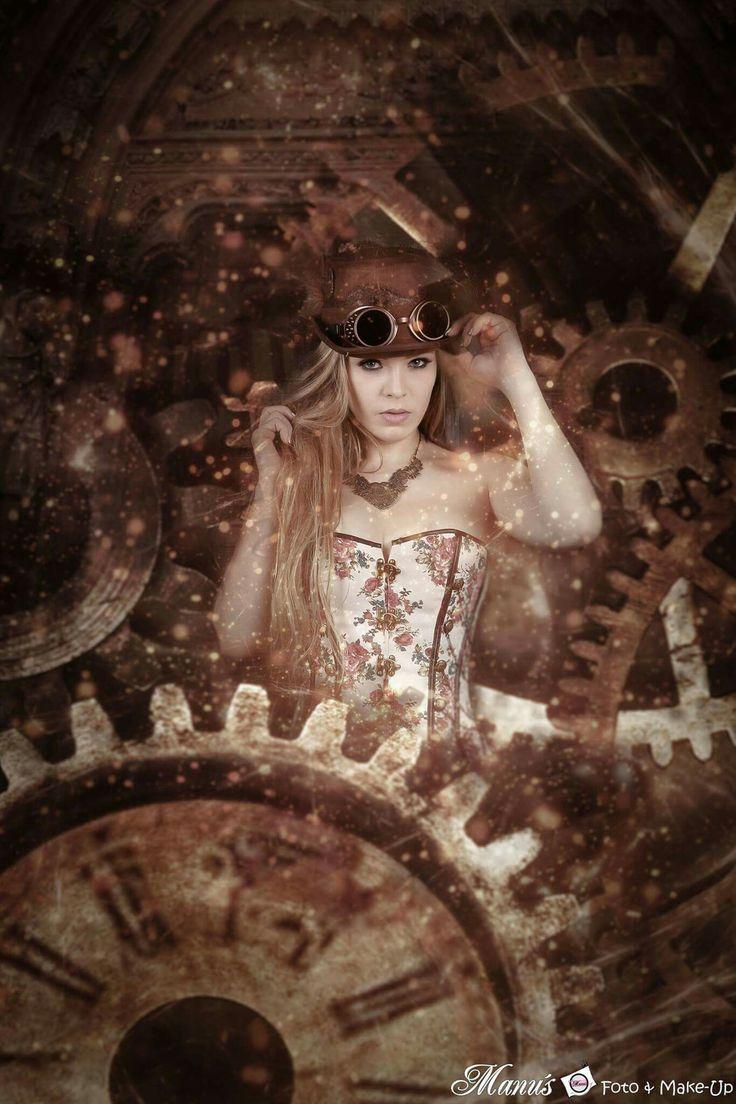 manuelas_fotoRetouching callenge     Originalbild: Tom's Carshooting     Model: Sarah Kim     Bearbeitung: #manuelas_foto      #steampunk #zeitreisend #retouchingchallenge #photocallenge #retouch #zahnrad #jumper #time #clock #feder #hat #zylinder #corsage #woman #portrait #porträt #manu'sfoto&make-up