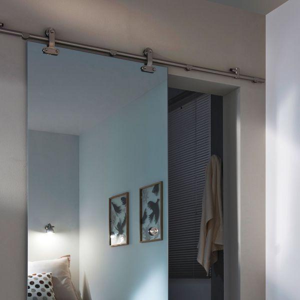 Les 25 meilleures id es concernant porte coulissante miroir sur pinterest miroir de porte for Porte coulissante interieure