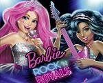 Em Barbie in Rock N Royals, junte-se a Barbie em mais uma aventura no colégio Rock N Royals. Courtney e Erika se uniram com seus amigos do acampamento e começaram uma super banda. E você pode juntar-se a eles em sua turnê de show pelo mundo. Divirta-se com a Barbie!