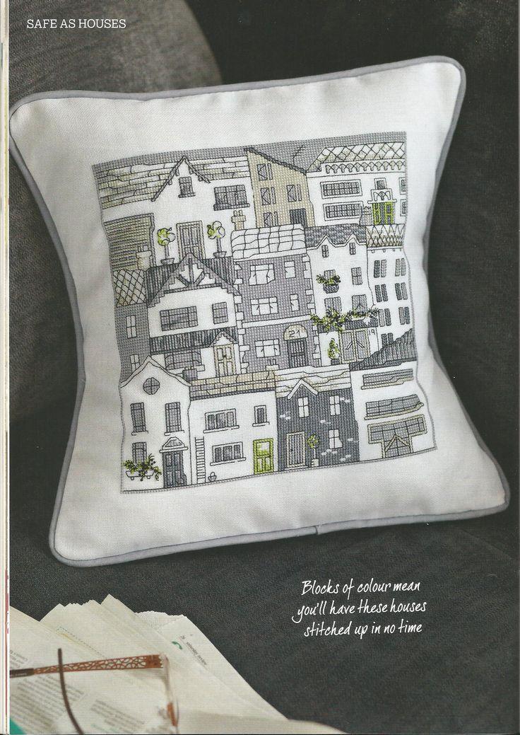 Cross Stitcher #275 Feb 2014 - Safe as Houses - Maria Diaz