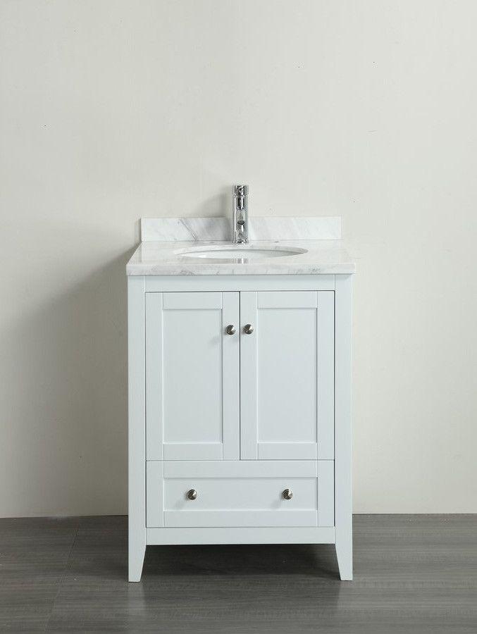 """Eviva Lime® 24"""" Bathroom Vanity White"""