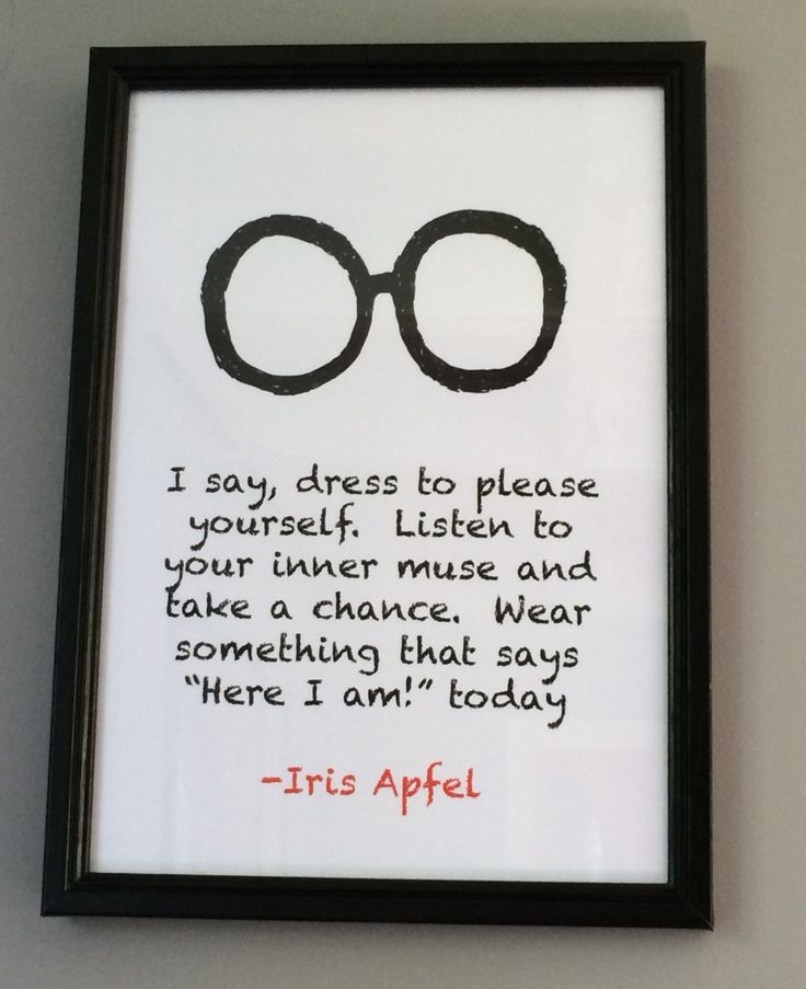 Iris Apfel Quote Typography Artwork by TheWordAssociation on Etsy