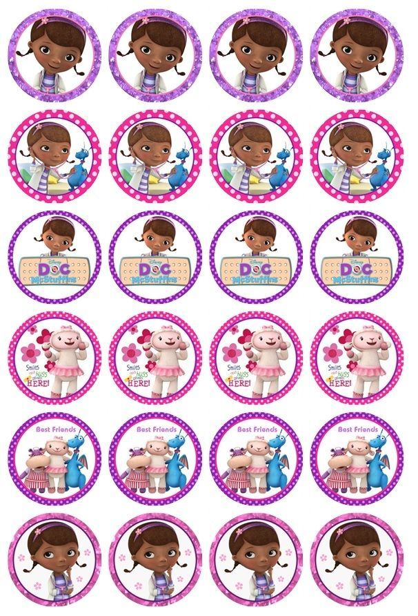 24 x Doc McStuffins Edible Cupcake Toppers Pre-Cut in Home & Garden, Parties, Occasions, Cake   eBay