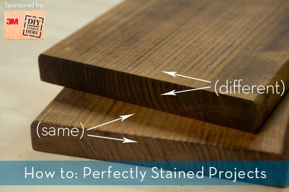 How to evenly stain your woodworking projects! @3MDIY #3MDIY #DIY #tips