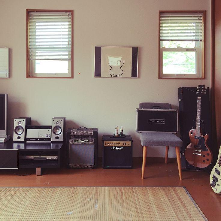 unico /ギター/ギブソン/フェンダー/HIWATT/楽器のある部屋…などのインテリア実例 - 2015-05-20 10:22:45 | RoomClip(ルームクリップ)