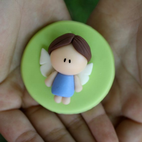 Little Angel Baptism First Communion Party Favor by gavo on Etsy, $10.00
