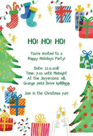 Best Holiday Ever Christmas Invitation Christmas Rockstar