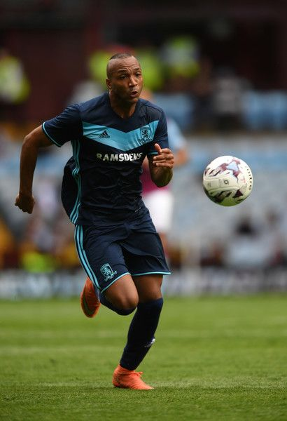 Middesbrough player Emilio Nsue in action during the pre- season friendly between Aston Villa and Middlesbrough at Villa Park on July 30, 2016 in Birmingham, England.