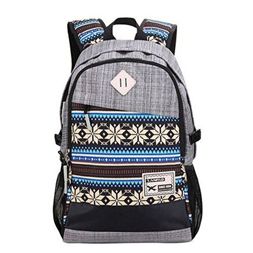 Tribal-print Daypack: Best Backpacks for College (Grey) $20.00 //