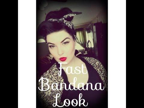 Fast Bandana Look! #pinup #rockabilly #hairhowto