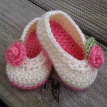Zapatitos para Baby Shower niña