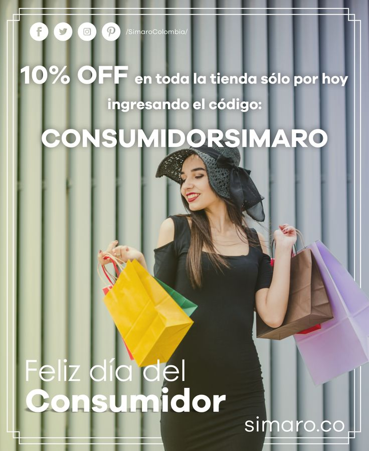 Sólo por hoy 10 % en toda nuestra tienda http://simaro.co/ con el cupón CONSUMIDORSIMARO 🤝🏻  @SimaroColombia #SimaroColombia #DíaDelConsumidor #ConsumerDay #ThankYou #ECommerce  #Novedades #Compras #Regalos #Descuentos #SimaroCo 🇨🇴 #LoEncontramosPorTi #SimaroBr 🇧🇷 #SimaroMx 🇲🇽