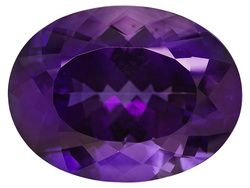 Untreated La Capilla Amethyst(Tm) 28.51ct 23.96x18.08mm Oval: 2851Ct 2396X1808Mm