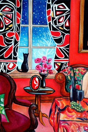 Lounging in the Patterns of Matisse, k. Madison Moore - love the colors; would…