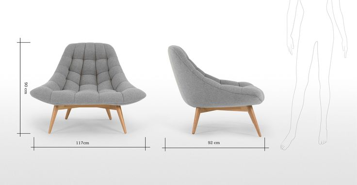Kolton Chair, Whisper Grey | made.com, £449