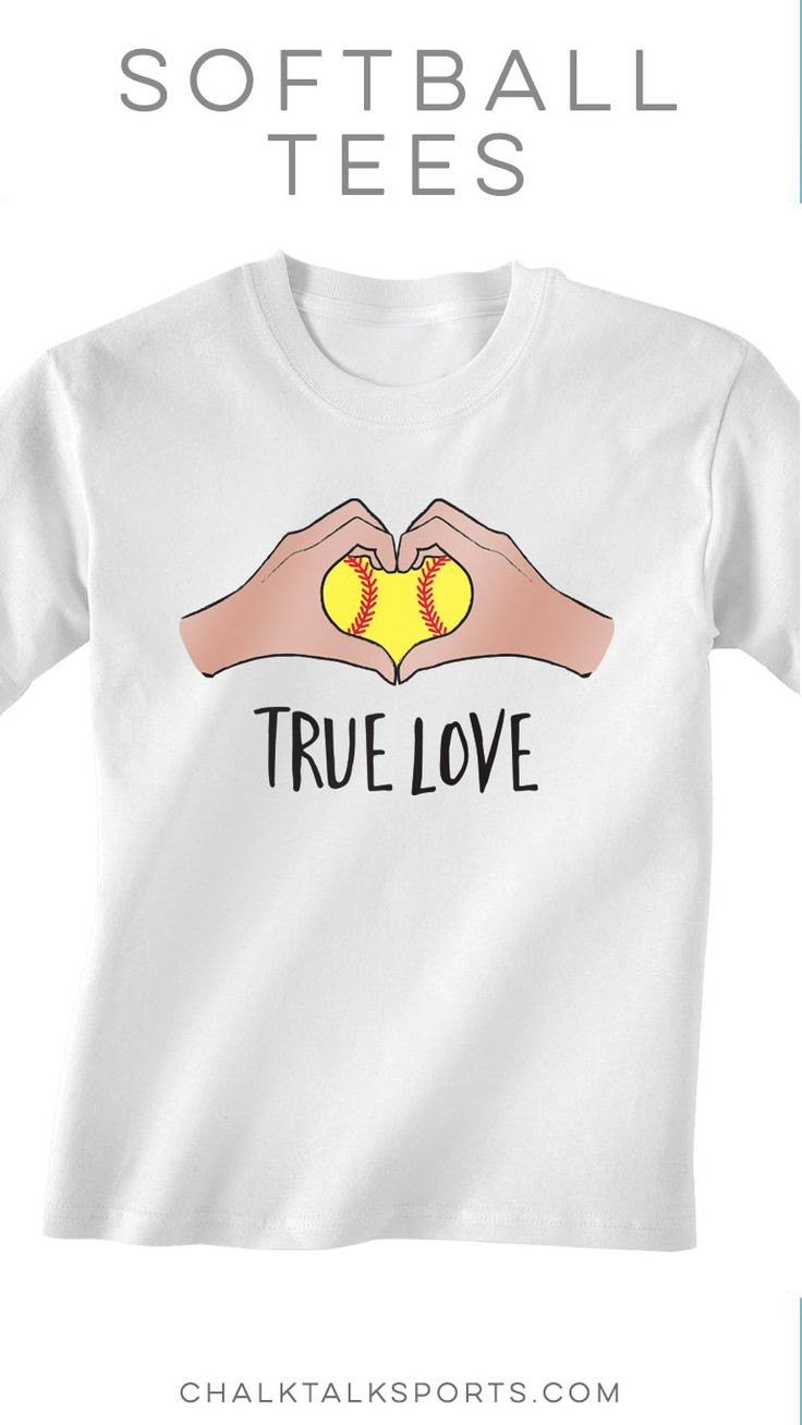 True Love Softball Short Sleeve Tee! One of our favorite softball shirts, makes a softball great gift idea. You can also personalize the back of your tee!