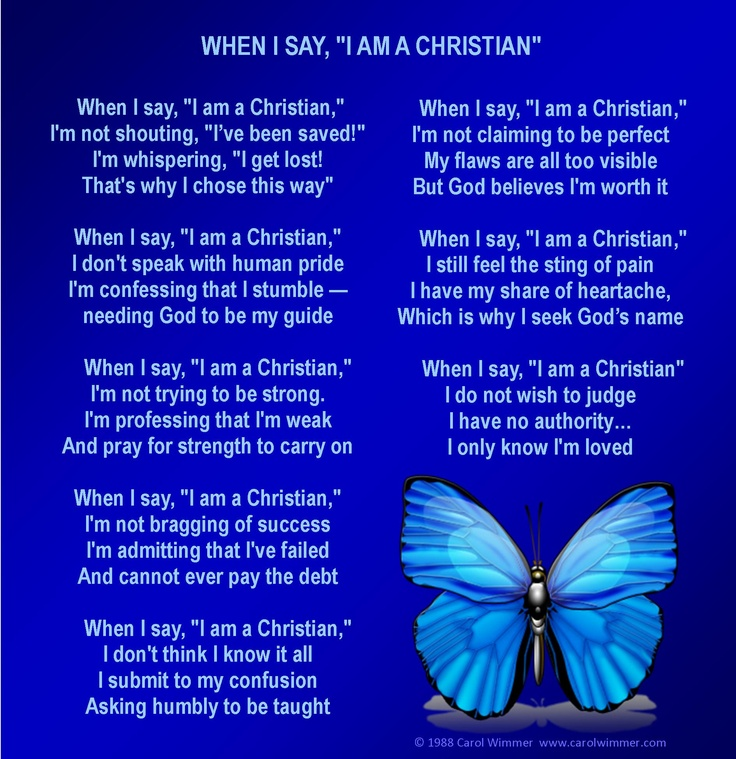 Spiritual Butterfly Quotes: 58 Best When I Say I Am A Christian Images On Pinterest