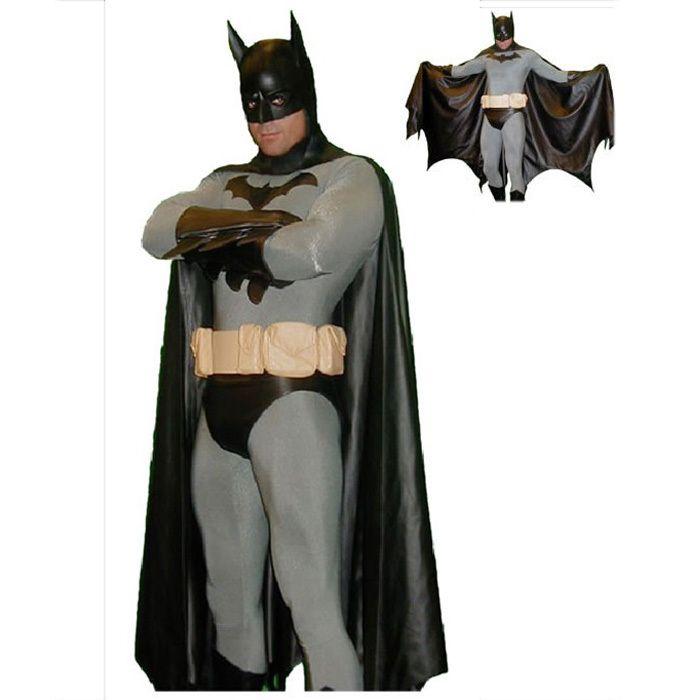 black batman costume men cosplay adult halloween costumes for men full bodysuit zentai cape mask superhero
