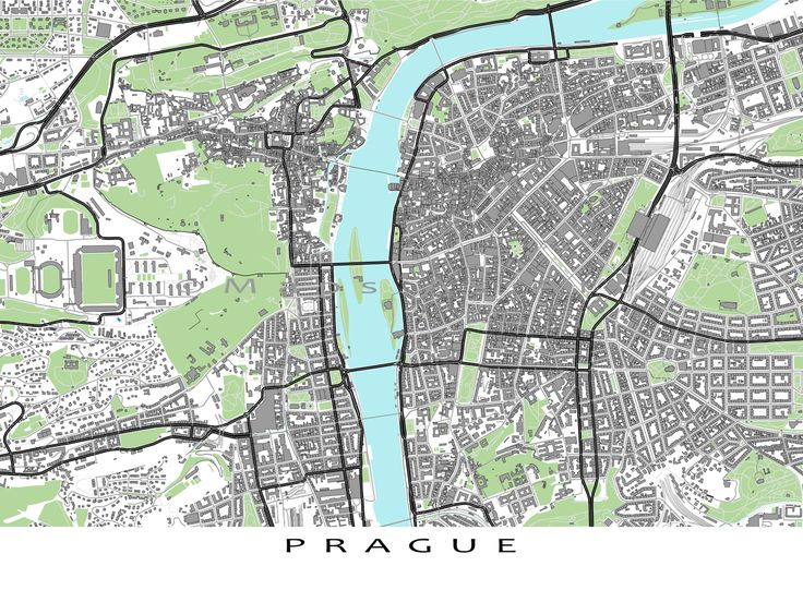 Find your favourite places on this Prague map! This art print has shows buildings. Buildings help you find attractions like the Staroměstské náměstí (town square where the Astronomical Clock is), the Church of Our Lady before Týn, The Powder Tower and more.  You can see other things that make Prague special: * modern roads and streets (like the Charles Bridge) * green spaces * water bodies (like the Vltava River) #PragueMap #CzechRepublic #CityMap